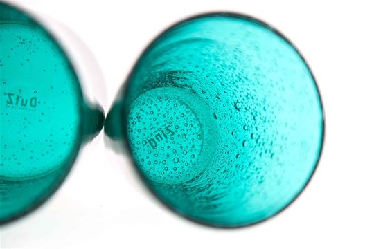 Conic glass teal